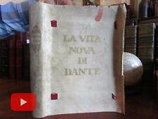Dante Alighieri La Vita Nova 1911 Dante Gab. Rossetti Limited Edition #31 of 50