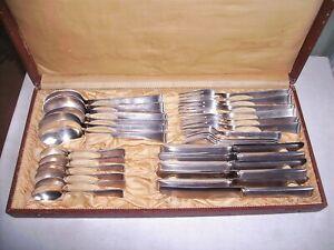 WMF 2500 Bauhaus Besteck 30 teilig 6 Pers. 90 er Silber