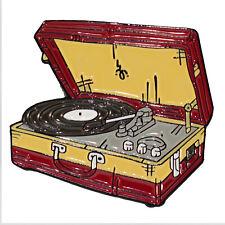 Record Player Turntable Enamel Pin Vinyl Kitsch Retro Badge Aussie Seller