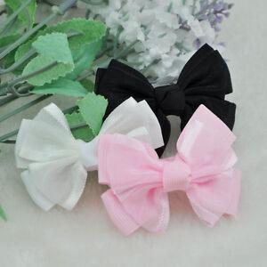 20pcs Grosgrain Ribbon Bows DIY Appliques Wedding Craft Gift  A66