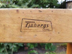 Sjobergs joiner's work bench. Vintage wooden carpentry & woodworking bench.