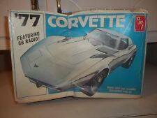VINTAGE AMT 1977 CORVETTE MODEL CAR KIT UNSTARTED WITH CB RADIO ESTATE FIND