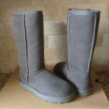 UGG Classic Tall II 2.0 Gray Grey Water-resistant Suede Boots Size US 8 Womens