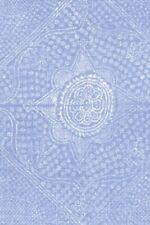 """Raoul Textiles Blue Handprinted Linen Fabric- Chunari / Delft Remnant 31"""" X 27"""""""