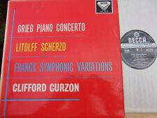 Decca SXL2173 Wbg ' GRIEG PIANO CONCERTO/FRANCK VARIATIONS' UK LP CURZON 1960 EX