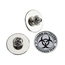 ZOMBIE OUTBREAK TEAM METAL PIN BADGE WITH 25mm LOGO