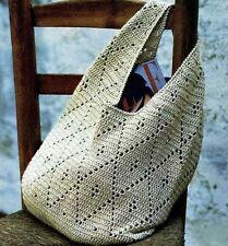 Cartera de mano, de ganchillo hecho a mano de ganchillo, Bolso para el hombro, lanagatto Mujeres Bolso de mano