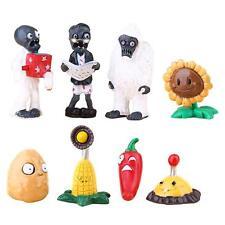 8pcs/set Different Plants vs Zombies Anime Action Figures PVZ Hot Sale
