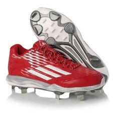 Adidas PowerAlley 3 Baseball Softball Cleats Red Mens Size 10.5