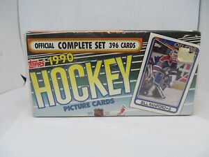 1990 TOPPS NHL HOCKEY PICTURE CARDS COMPLETE SET OF 396 CARDS FACTORY SEALED