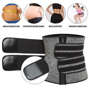 Women Waist Trainer Neoprene Belt Sauna Sweat Body Tummy Girdle Control I0W1