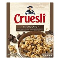 Quaker Cruesli Chocolate Breakfast Cereal Grains 500G