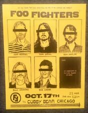 FOO FIGHTERS Anonymous Chicago GIG POSTER POSTCARD (FREE US SHIPPING) Nirvana