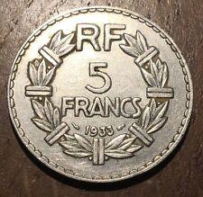 PIECE DE 5 FRANCS LAVRILLIER EN NICKEL 1933 (195)