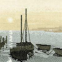 Heritage Crafts Counted Cross Stitch Kit - Silhouettes - Safe Harbour - 14 ct Ai