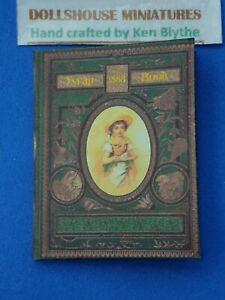 Dolls House 1:12 Scale, Scrap Book, Victorian 1888 Hand Crafted by ken Blythe
