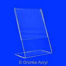 L Aufsteller - Acryl Werbeaufsteller Ständer Display in A3 - A7 Preisaufsteller