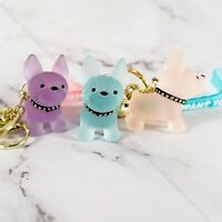 Fashion Punk French Bulldog Key chain Boston Terrier Keyring Cute Bag Charm
