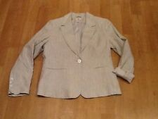 H&M MINT GREEN FLECKED LINEN JACKET SIZE 16