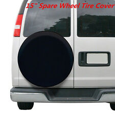 DIY trailer Spare tire tyre Wheel Cover Pure black Heavy Duty Vinyl Material 15'