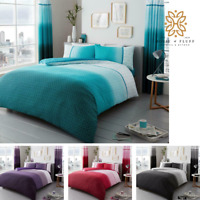 Luxuries URBAN-OMBRE Reversible Duvet Quilt Cover+Pillow Case Bedding All Sizes