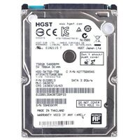 "Hitachi Travelstar 5K750 750GB 2.5"" SATA Hard Drive Disc SATA/300 5400RPM 8MB"