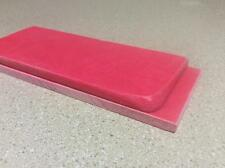 "PINK PAPER MICARTA KNIFE HANDLE SCALE BLANKS 1/4"" CHARITY AUCTION"