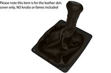 DARK BROWN LEATHER SKIN MANUAL GEAR BOOT COVER FITS PORSCHE 924 944 968
