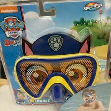"Paw Patrol""Chase"" Character Swim Mask/Goggles-Nickelodeon Swimways-Nip"