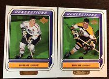 1999-00 Upper Deck Generations Level 1 2 Card Lot Bobby Orr Boston Bruins