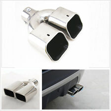 Universal Stainless Steel Chrome Exhaust Muffler Tip 60mm Inlet Car Rear Silver