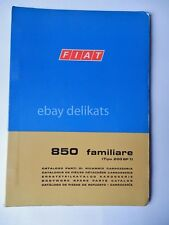 FIAT 850 Familiare CATALOGO ricambi 1970 1 ed