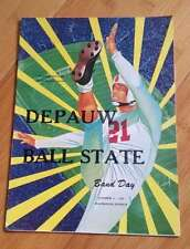 BALL STATE @ DEPAUW  COLLEGE FOOTBALL PROGRAM - 1953  -  EX