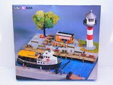 LOT 51268 | Kibri HO 8264 Diorama Hafen Leuchtturm Schiff Imbiss Bausatz NEU OVP