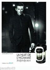 PUBLICITE ADVERTISING 116  2011  Parfum Nuit HOMME Yves ST LAURENT & V Cassel **