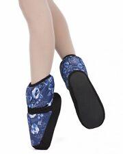 Boots de danse pour l'échauffement GRISHKO M68 bleue motifs floraux en S,M,L,XL