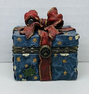 Boyds Bears Treasure Box Toppers Ornament Box With Tangle McNibble #83012 2000