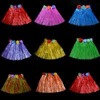 Kids Boys Girls Hawaiian Hula Grass Beach Skirt Flower Party Dress X1 Pop