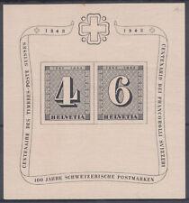 SUIZA HELVETIA HOJA FEUILLET Y&T N° 9 - NEUF ** AÑO 1943
