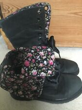 Doc Martens Rare Triumph 1914 12hole Dark Grey/floral Boots Good Condition Uk8