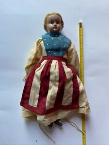 """Red white and blue dressed Doll ceramic head 16"""""""