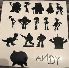 Toy Story Glass Craft Etched Vinyl Sticker Silhouette Disney Decal Car Bundle