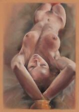 original drawing A3 97ShN art by samovar modern pastel female nude 2020