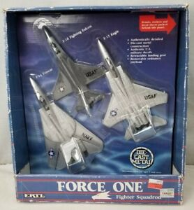 1987 Force One Fighter Squadron ERTL Metal Die-cast Planes Tomcat, Falcon, Eagle