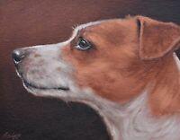 John Silver Original Oil Painting - Portrait Of A Jack Russell Dog (British Art)