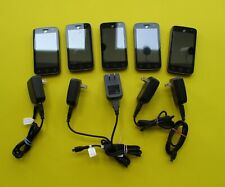 6 Preowned ALCATEL ONE TOUCH phones & cords ONLY- good working condition