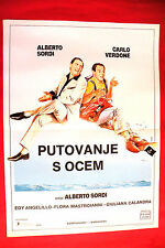 IN VIAGGIO CON PAPA 1982  ALBERTO SORDI CARLO VERDONE UNIQUE EXYU MOVIE POSTER