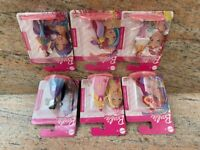 NEW: Lot of (6) Assorted Mattel Barbie Doll Figures / Cake Toppers w Free Ship