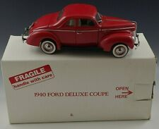 Danbury Mint 1940 Ford Deluxe Coupe Car 1/24 Scale Die Cast Mib