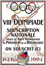 Art Ad 1924 Paris Olympic Games  Poster Print
